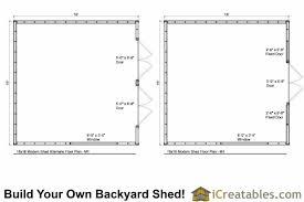 Storage Building Floor Plans 16x16 Studio Shed Plans Large Modern Shed Plans