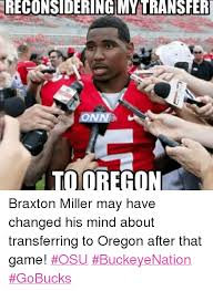 Braxton Miller Meme - reconsidering m transfer conn to oregon braxton miller may have