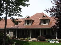aged copper interlock tile roof from oregon installed by