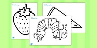 colouring sheets support teaching hungry