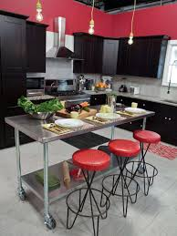 wood kitchen island table kitchen simple portable rectangle stainless steel kitchen island