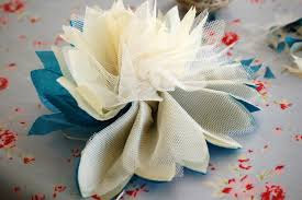 tulle flowers greedy for colour tissue paper and tulle flower tutorial