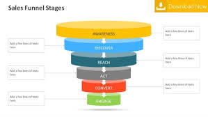 funnel stages powerpoint template