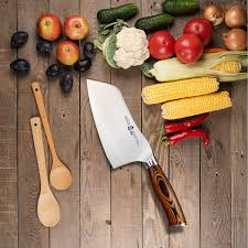 amazon com tuo cutlery vegetable cleaver knife 7