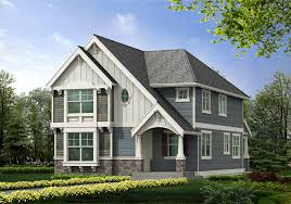 attractive cream house exterior color idea with white window frame craftsman house plan with garage exterior option 23102jd exterior home design styles exterior designer