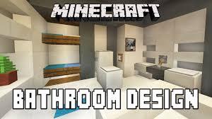 minecraft tutorial bathroom and furniture design ideas modern