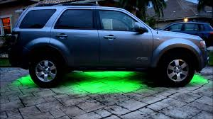 Ford Escape Black Rims - ford escape under body led kit youtube