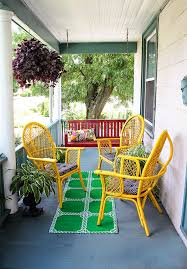 Front Porch Patio Furniture by Front Porch Makeover For Under 100 Aunt Peaches