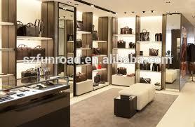 High End Boutique Mens Bag Racks Of Boutique Bag Shop Display - Modern boutique interior design