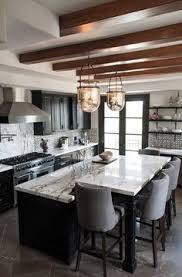 Black Kitchens Contrasting Kitchen Islands White Kitchen Island Appliance