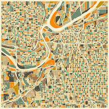 Map Of Kansas City Kansas City Map Digital Art By Jazzberry Blue