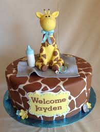 giraffe themed baby shower cakes zone romande decoration