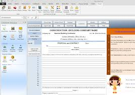 Free Construction Estimate Forms Templates by Construction Template