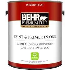 How To Clean Walls With Flat Paint by Behr Premium Plus 1 Gal Ultra Pure White Flat Zero Voc Interior