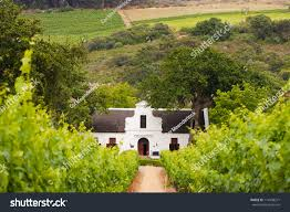 dutch colonial style house vineyard dutch colonial style farm house stock photo 114498271