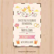 wedding invitations freepik pretty wedding invitation with decorative items vector free