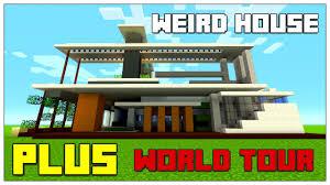 weird house minecraft weird house plus world tour tu35 tu36 2016 youtube