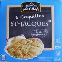 cuisiner les coquilles st jacques surgel馥s 6 coquilles st jacques à la bretonne surgelées la suggestion