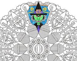 creepy coloring pages halloween coloring etsy