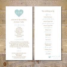 best 25 order of service ideas on pinterest wedding order of