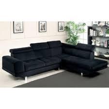 Microfiber Fabric Upholstery Black Microfiber Sectional Sofa