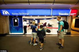 bureau de change travelex exchanging travel at the airport costs holidaymakers