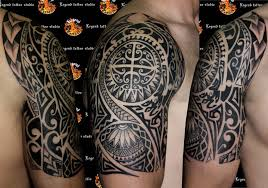 black samoan tribal tattoo on right half sleeve by legendtattoo