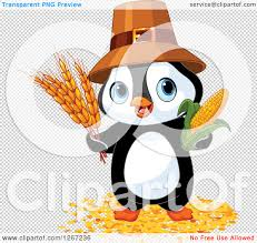 cute thanksgiving background clipart of a cute thanksgiving pilgrim penguin with harvest wheat