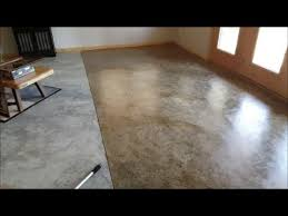 Diy Basement Flooring Diy Basement Floor Stain And Finish 2 Colors Without Etching