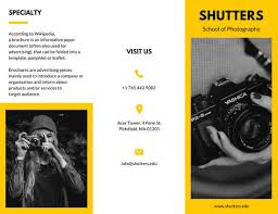 photography brochure templates canva