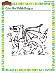 color welsh dragon u2013 printable dragon coloring pages