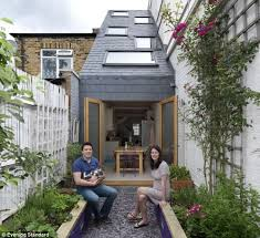 making the most of a small house welcome to the wedge 90in wide house which expands to 22ft at the