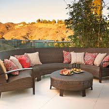 Patio Furniture Sectionals - curved modular the new gathering space home style