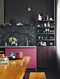 mat iaux cuisine carrelage metro noir mat