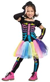 Toddler Halloween Costumes Girls U0027s Neon Skeleton Costume Kids Costumes