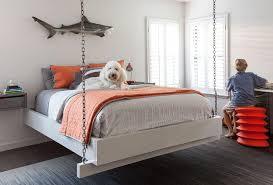 Suspended Bed Frame Kids Hanging Bed Suspended By Chains Cottage Boy U0027s Room