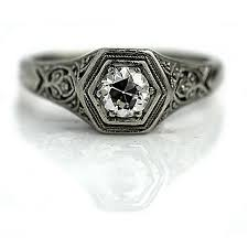 the blog at vintagediamondrings com art deco engagement ring
