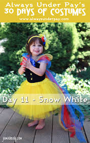 day 11 u2013 snow white diy halloween costume tutorial cheap easy