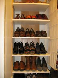 simple diy shoe display rack storage for small and narrow closet