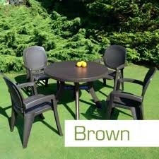 Plastic Patio Chairs Europa Leisure San Remo Chair Dark Brown Plastic Outdoor Chairs
