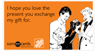 gifts presents holidays christmas exchange home depot funny ecard