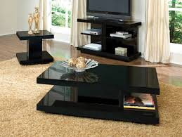 Traditional Living Room Tables Traditional Coffee Table Stunning Black Glass Set Of Living Room