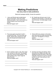 making predictions u2014 instant worksheets education pinterest