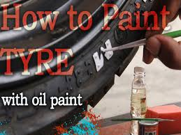 How To Clean Walls For Painting by How To Paint Tyre Side Wall Using Oil Paint D I Y Youtube