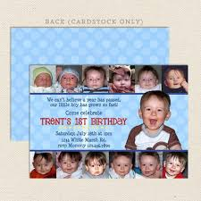 1st birthday collage boy invitation printable u2013 lil u0027 sprout