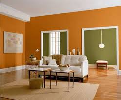 home design decorations orange and green wall color for