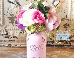 Mason Jar Floral Centerpieces Rustic Mason Jar Centerpiece Mason Jar Decor Wedding Mason