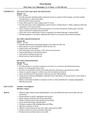 basic computer skills resume exle security receptionist resume sles velvet jobs