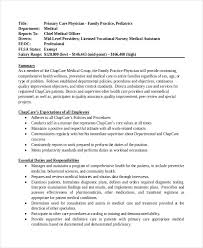 Pediatrician Resume Sample by Physician Job Description Physician Career Information