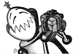 the impulsive sketch journal xmas sketch 17dec10 gift robot